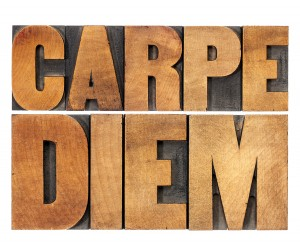 Carpe Diem  - enjoy life before it is too late, existential caut