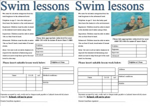 Summer Swim Lessons form 2016