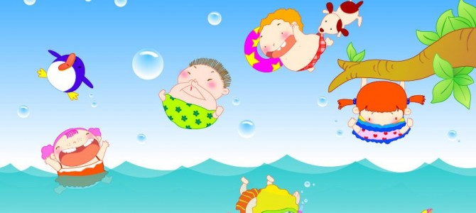 Kids Summer swimming lessons starting the 4th of July