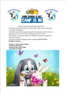 easter camp poster 2017